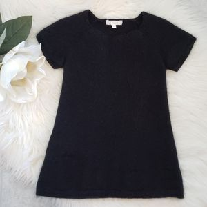 Chloe Sweater Dress Girls Black Angora Wool 4